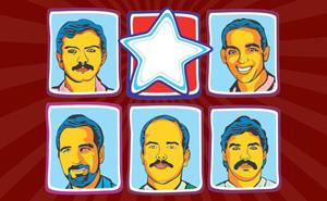 Cuadro de los Cinco en local del MUP del Frente para la Victoria de Argentina