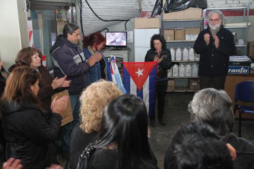Automotores Orletti homenaje del personal de la embajada a Cejas y Galañena