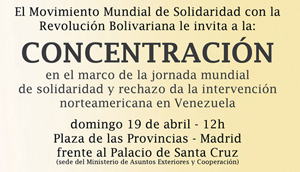 Madrid, 19 de Abril: concentración