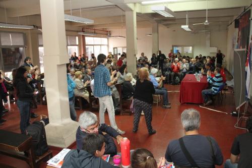 Plenario del encuentro de Solidaridad con Cuba