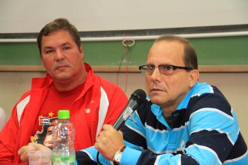Orestes Perez Perez en el Encuentro de Solidaridad con Cuba