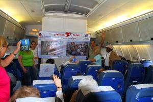 avion de Cubana canta por Fidel