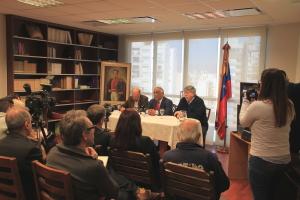 Embajada de Venezuela Conferencia de prensa