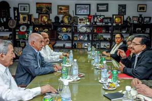 Recibe Machado Ventura a Secretario General del FMLN