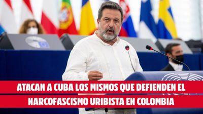 """Cubainformacion - Artículo: """"Atacan a Cuba los mismos que defienden el  narcofascismo uribista en Colombia"""": Grupo de la Izquierda planta cara a la  derecha en el Parlamento Europeo"""